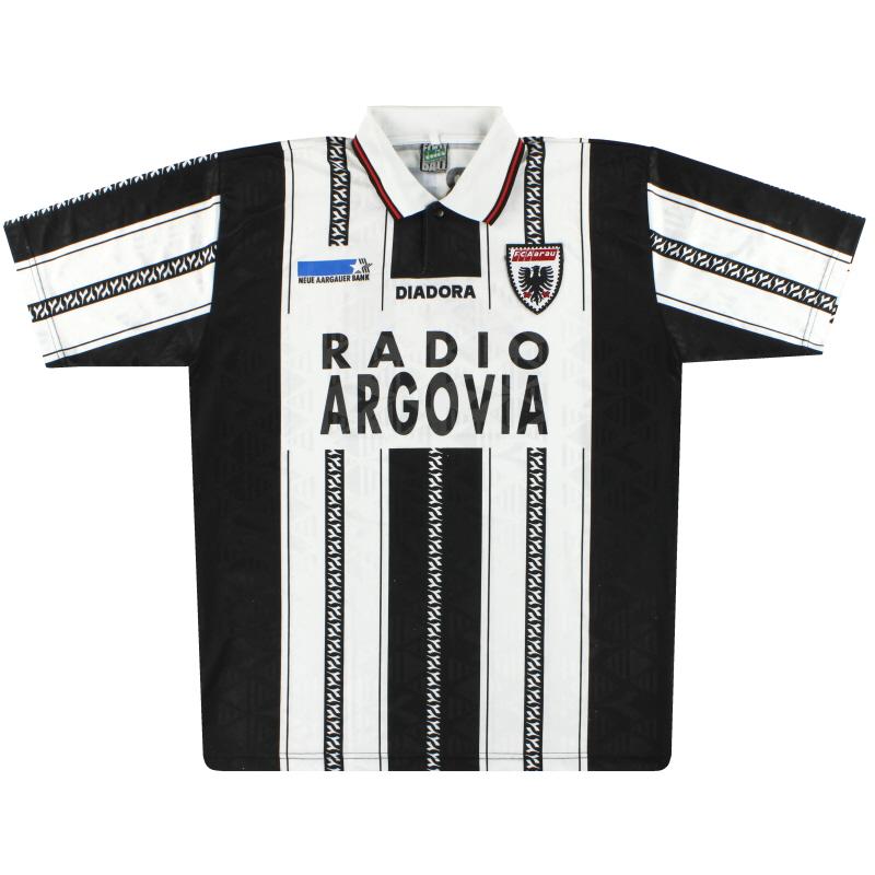 1996-97 FC Aarau Diadora Match Issue Home Shirt #21 XXL