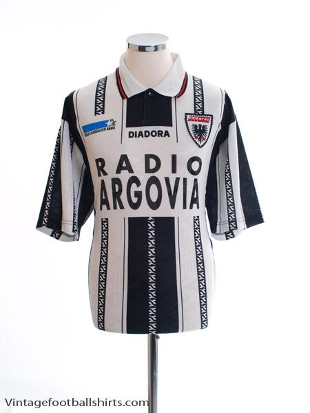 1996-97 FC Aarau Match Issue Home Shirt #21 XXL