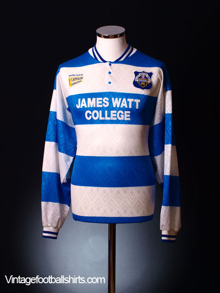 1996-97 Greenock Morton Home Shirt L/S L