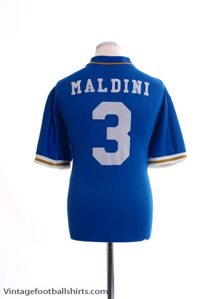 1996-97 Italy Home Shirt Maldini #3 XL