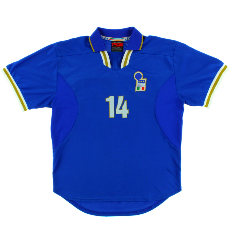 1996-97 Italy Player Issue Home Shirt #14 XL
