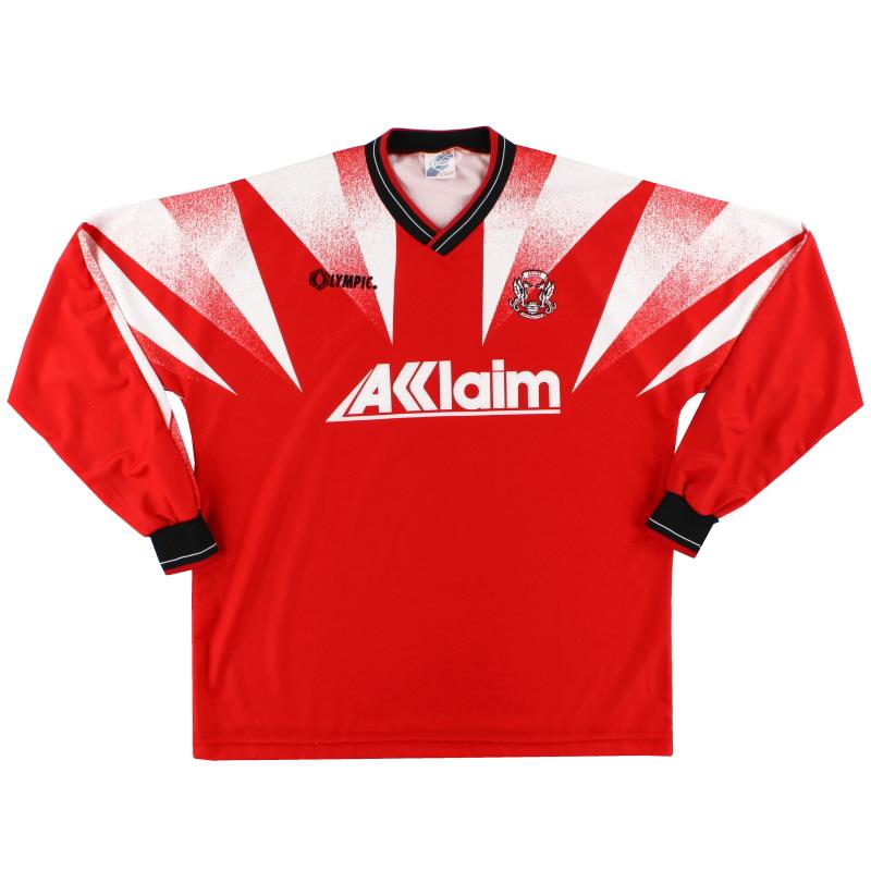 1996-97 Leyton Orient Home Shirt L/S XL