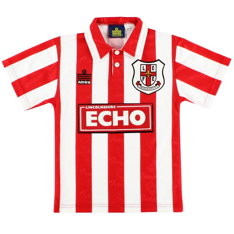 1996-97 Lincoln City Home Shirt S.Boys