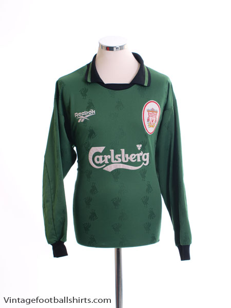 1996-97 Liverpool Goalkeeper Shirt *Mint* L