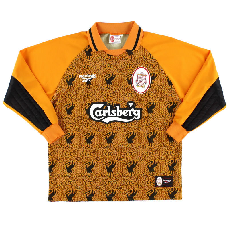 1996-97 Liverpool Goalkeeper Shirt *Mint* M