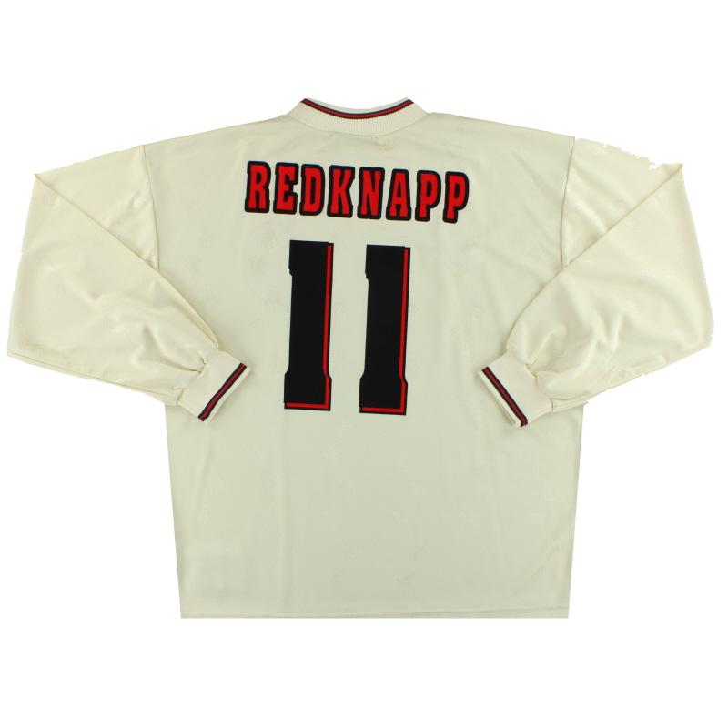 1996-97 Liverpool Reebok Away Shirt L/S Redknapp #11 *w/tags* XL