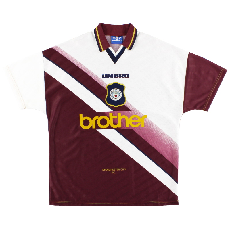 1996-97 Manchester City Away Shirt *Mint* L