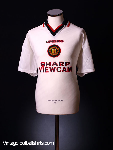 1996-97 Manchester United Away Shirt L