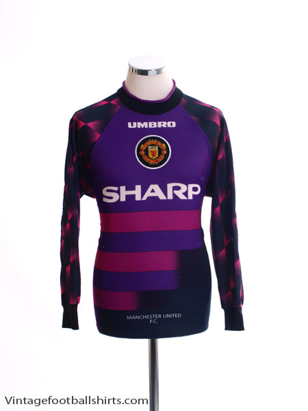 1996-97 Manchester United Goalkeeper Shirt L.Boys