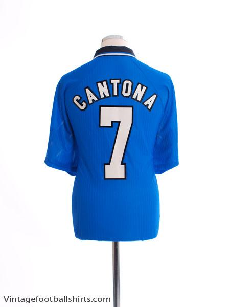 1996-97 Manchester United Third Shirt Cantona #7 XL
