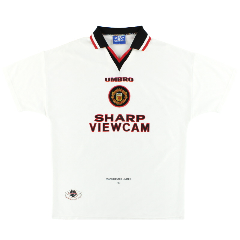 1996-97 Manchester United Umbro Away Shirt L