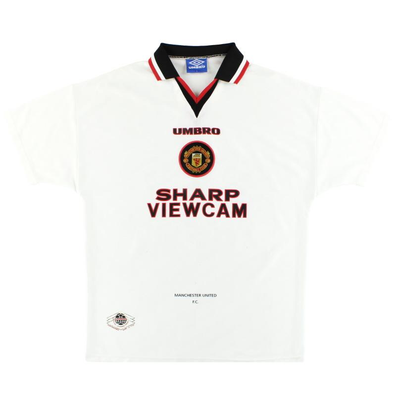 1996-97 Manchester United Umbro Away Shirt L