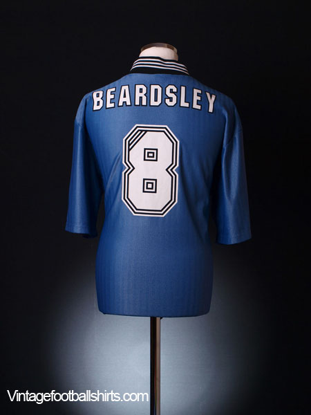 1996-97 Newcastle Away Shirt Beardsley #8 XL