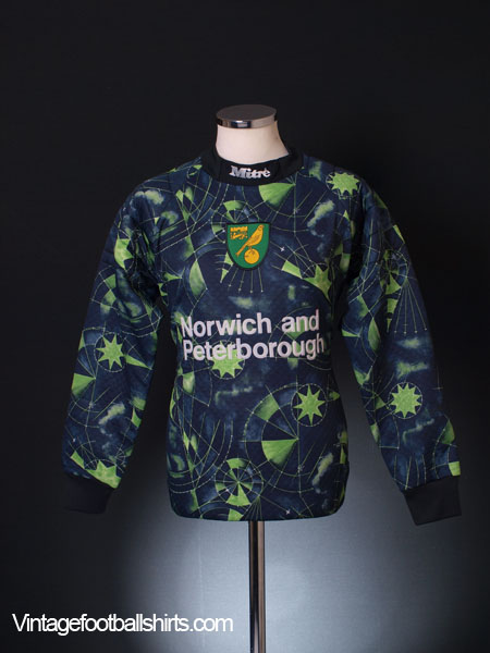 1996-97 Norwich City Goalkeeper Shirt L/S M