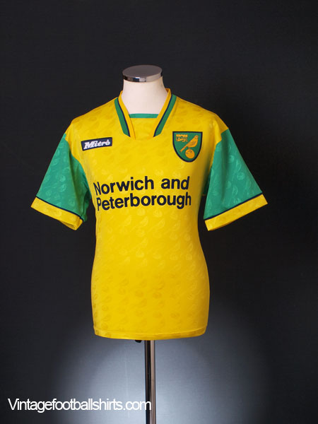 1996-97 Norwich City Home Shirt S