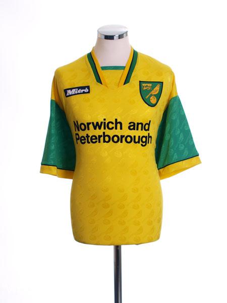 1996-97 Norwich City Home Shirt L