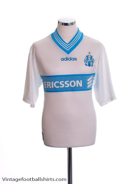 1996-97 Olympique Marseille Home Shirt *Mint* S