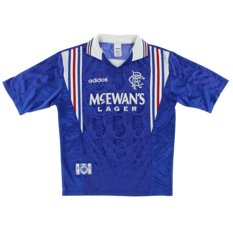 1996-97 Rangers adidas Home Shirt L