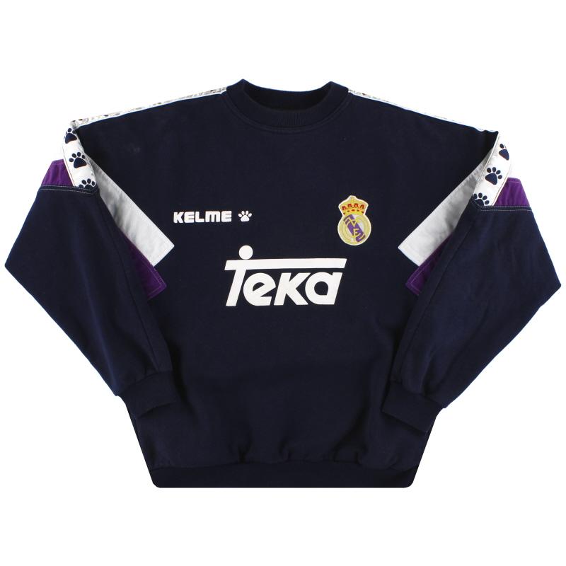 1996-97 Real Madrid Kelme Sweatshirt M