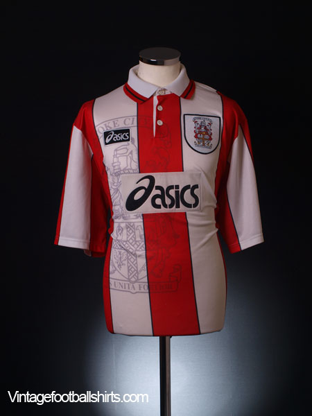 1996-97 Stoke City Home Shirt *Mint* L