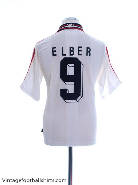 1996-97 Stuttgart Home Shirt Elber #9 S