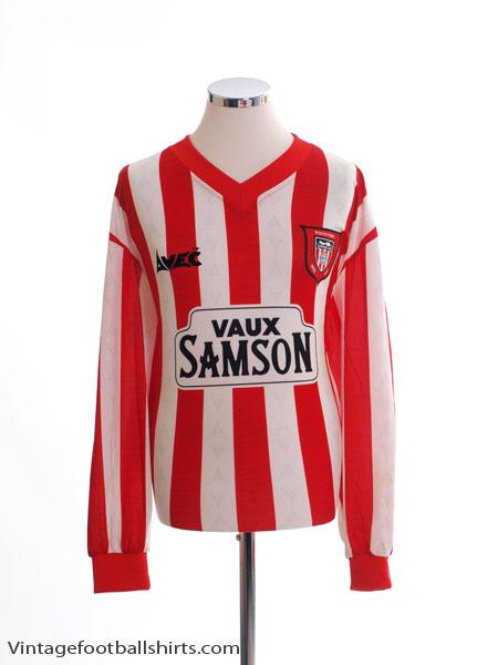 1996-97 Sunderland Home Shirt L/S XL