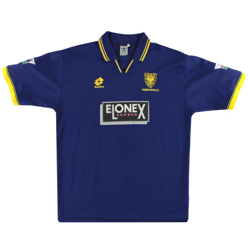 1996-97 Wimbledon Lotto Home Shirt Ekoku #9 XL