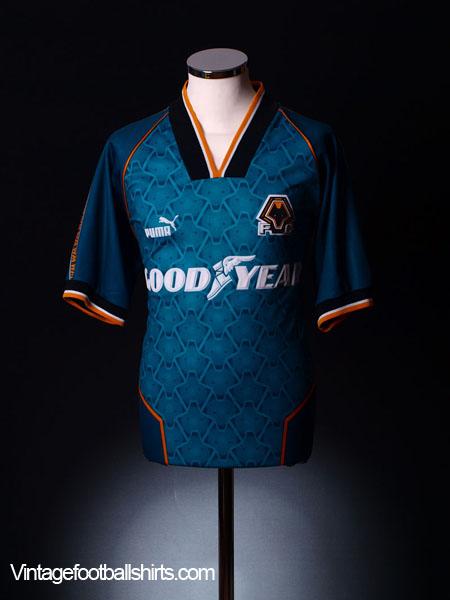 1996-97 Wolves Away Shirt *Mint* XL