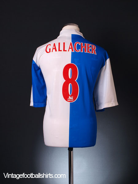 1996-98 Blackburn Home Shirt Gallacher #8 M