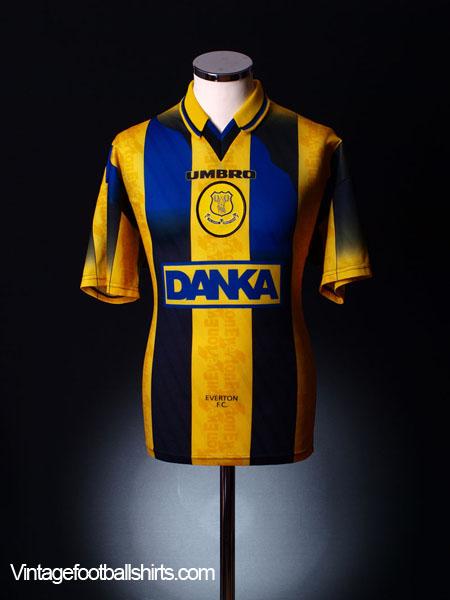 1996-98 Everton Away Shirt L