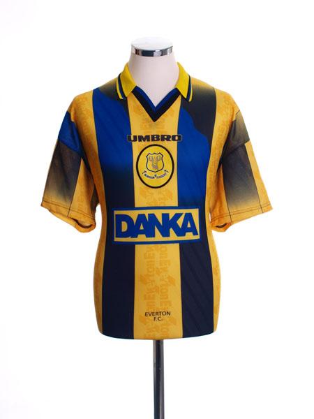 1996-98 Everton Away Shirt *Mint* M