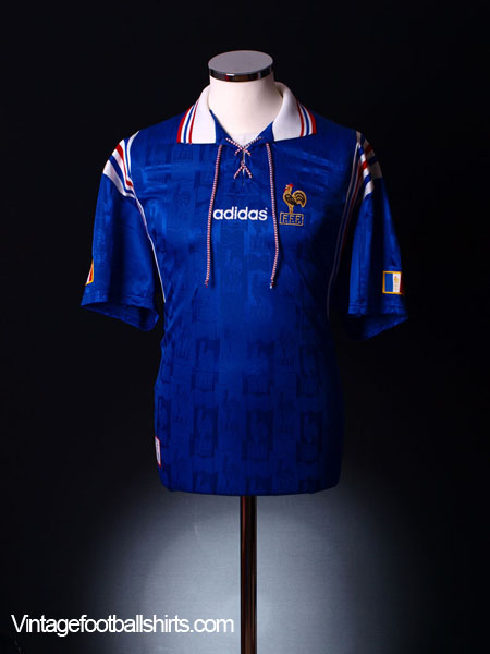 1996-98 France Home Shirt S