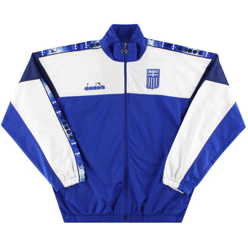 1996-98 Greece Diadora Track Jacket XL