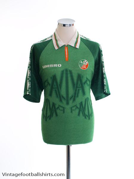 1996-98 Ireland Match Issue Home Shirt #7 L