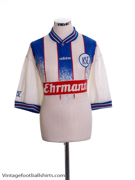 1996-98 Karlsruhe Home Shirt *Mint* XL
