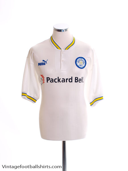 1996-98 Leeds Home Shirt *Mint* M