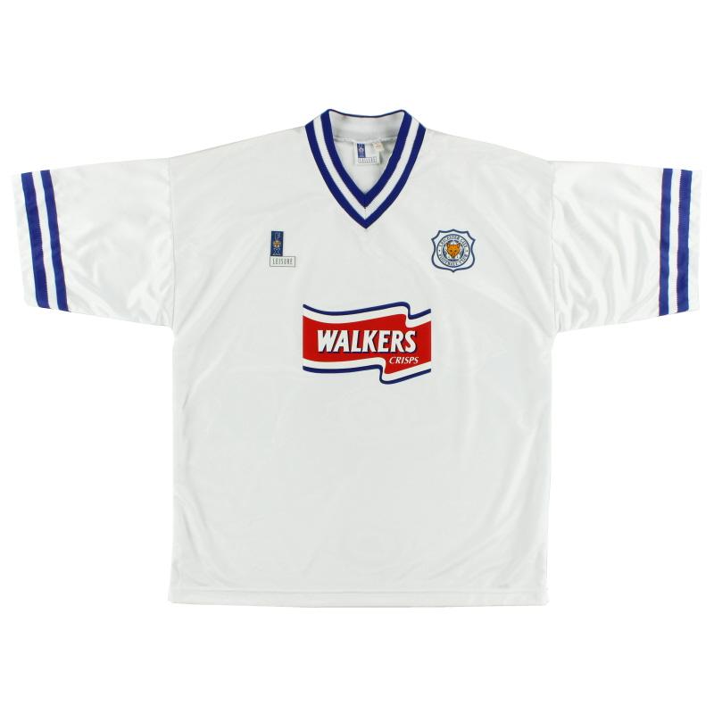 1996-98 Leicester Fox Leisure Away Shirt *As New* XL
