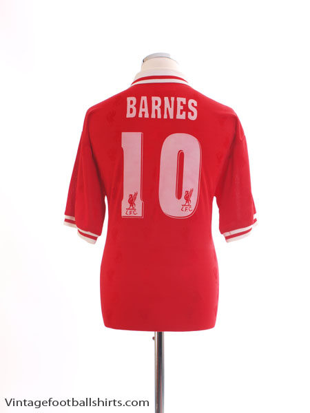 1996-98 Liverpool Home Shirt Barnes #10 *Mint* L