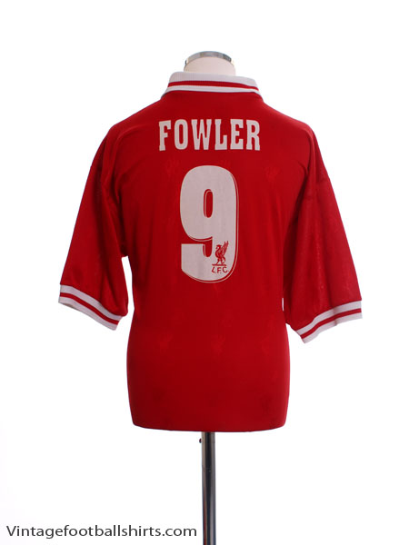 1996-98 Liverpool Home Shirt Fowler #9 M