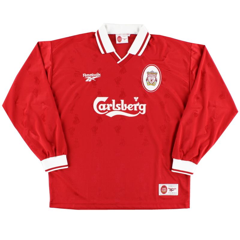 1996-98 Liverpool Home Shirt L/S *Mint* XL