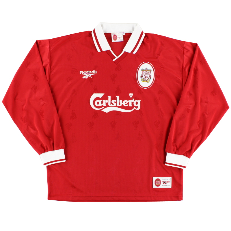 1996-98 Liverpool Home Shirt L/S M - 962089