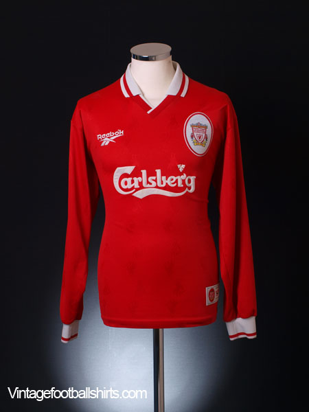 1996-98 Liverpool Home Shirt L/S M