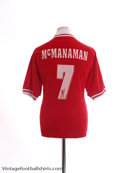 1996-98 Liverpool Home Shirt McManaman #7 *Mint* M