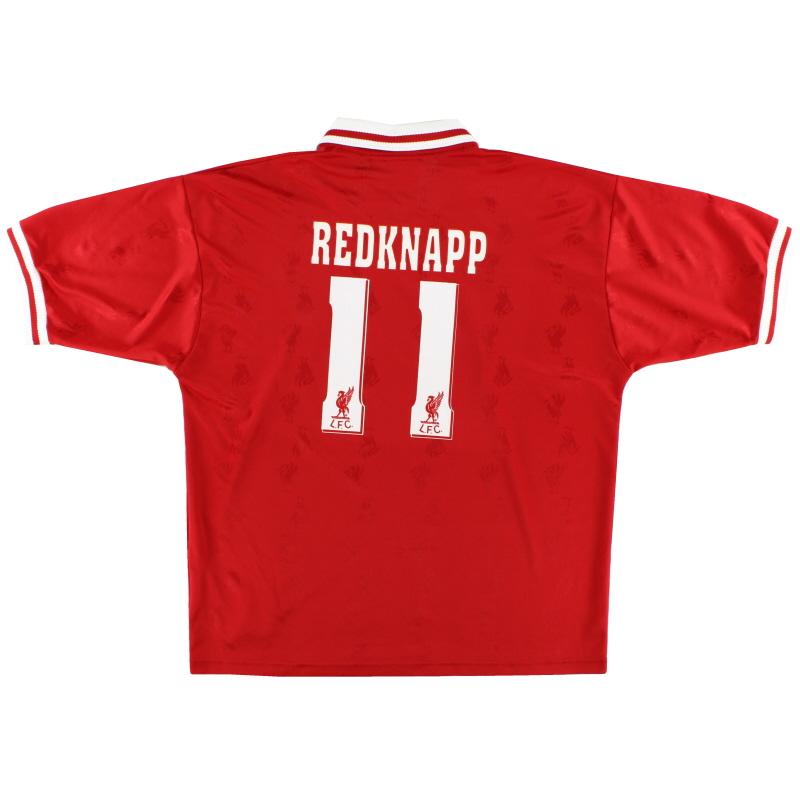 1996-98 Liverpool Home Shirt Redknapp #11 XL