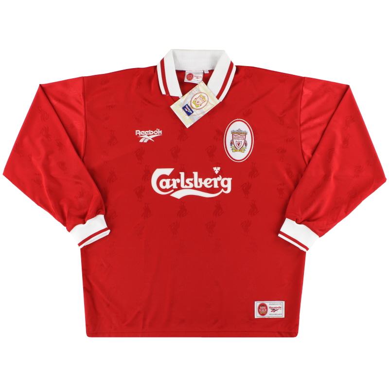 1996-98 Liverpool Reebok Home Shirt L/S *w/tags* XL - 962089
