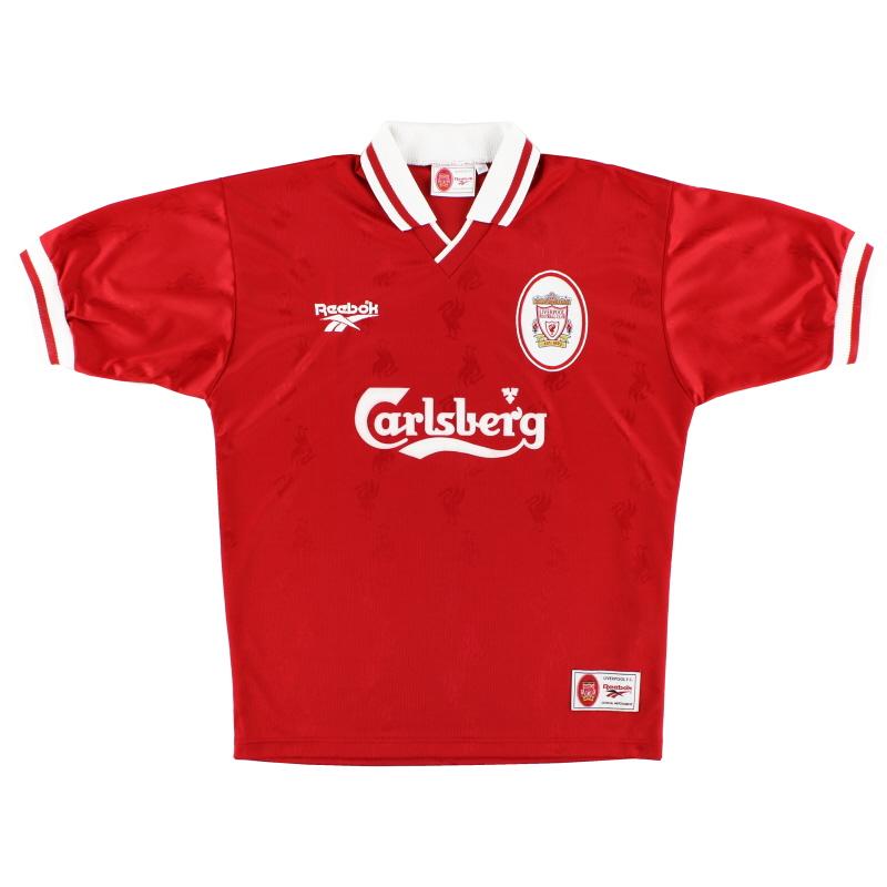 1996-98 Liverpool Reebok Home Shirt *Mint* L - 961733