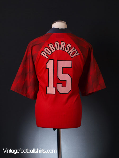 1996-98 Manchester United Home Shirt Poborsky #15 XXL