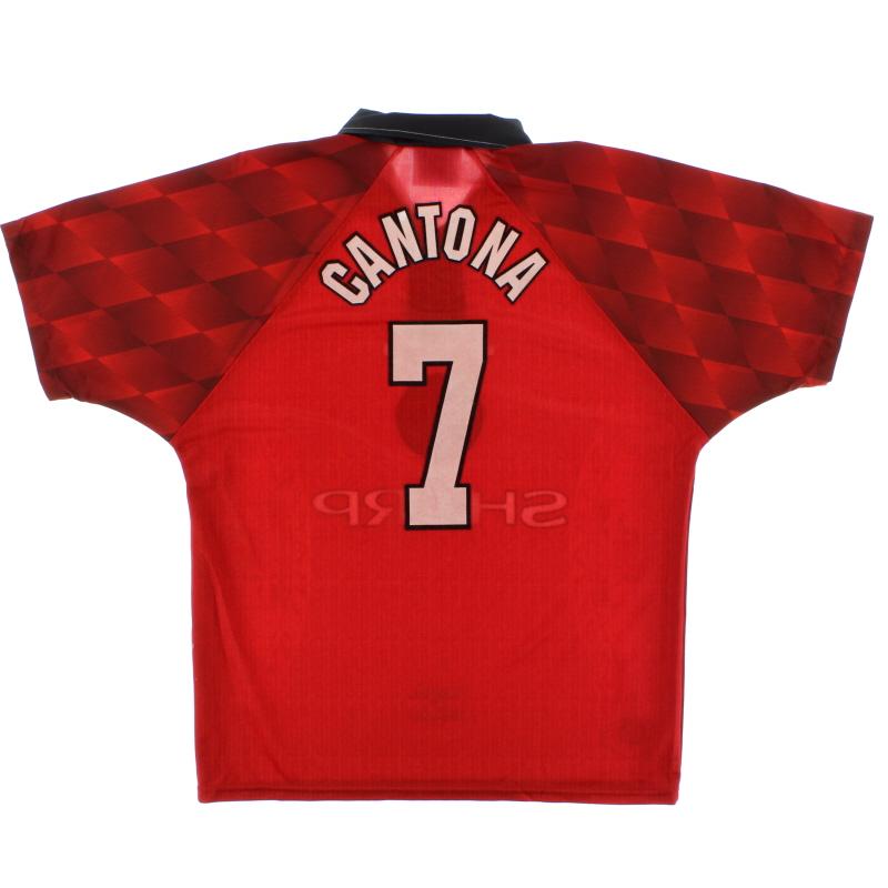 1996-98 Manchester United Home Shirt Cantona #7 M - 734720