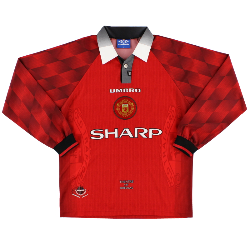 1996-98 Manchester United Home Shirt L/S M