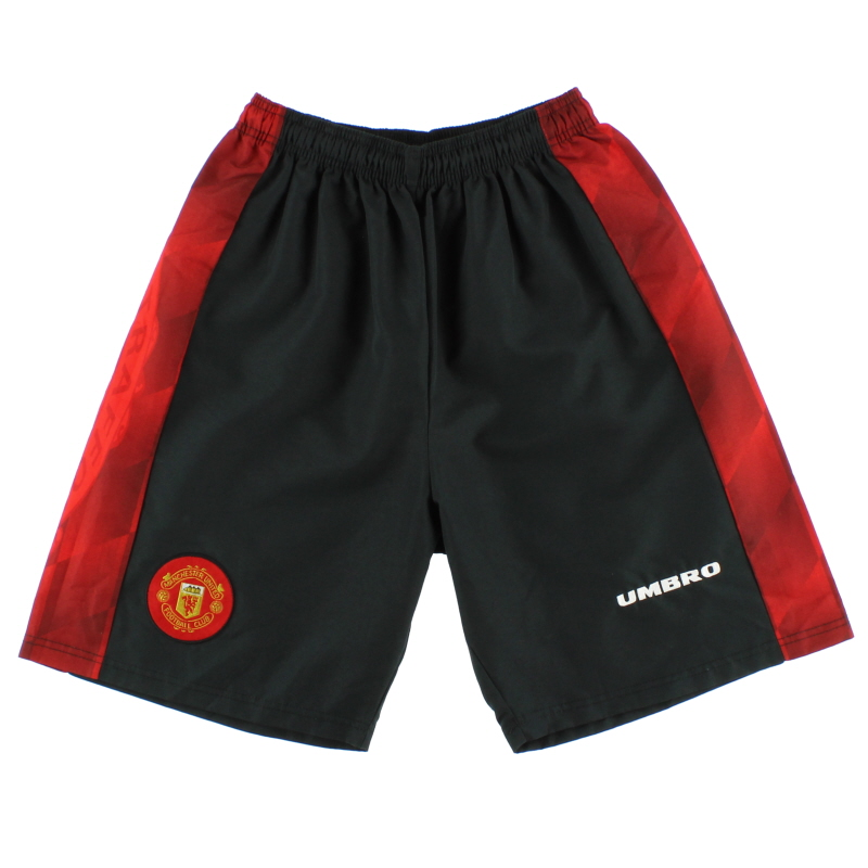 1996-98 Manchester United Umbro Home Change Shorts *Mint* S